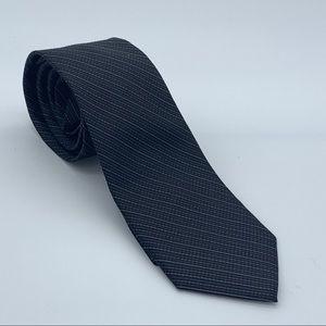 Calvin Klein Black Fine Line Graph Silk Tie
